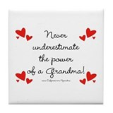 Grandma Power Tile Coaster