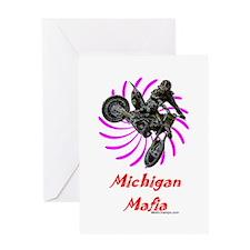 """""""Michigan Mafia"""" Greeting Card"""