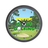 Payton is Out Golfing - Wall Clock
