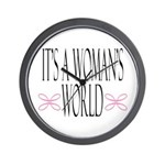 It's A Woman's World Wall Clock