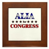 ALIA for congress Framed Tile