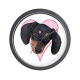Heart Dachshund -  Wall Clock
