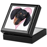 Heart Dachshund -  Keepsake Box