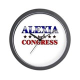 ALEXIA for congress Wall Clock