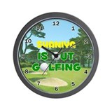 Shaniya is Out Golfing - Wall Clock