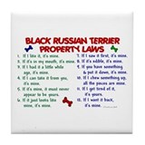 Black Russian Terrier Property Laws 2 Tile Coaster
