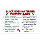 Black Russian Terrier Property Laws 2 Postcards (P
