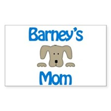 Barney's Mom Rectangle Decal