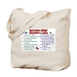 Bichon Frise Property Laws 2 Tote Bag