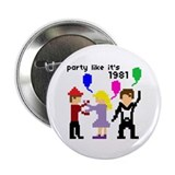 "party like it's 1981 - 2.25"" Button (10 pack)"