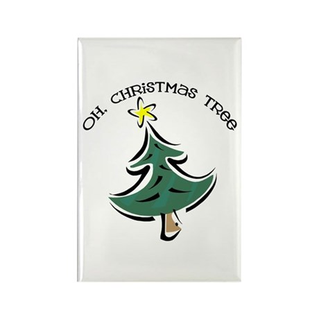 Oh Christmas Tree Rectangle Magnet