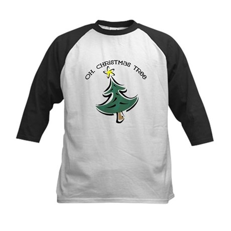 Oh Christmas Tree Kids Baseball Jersey