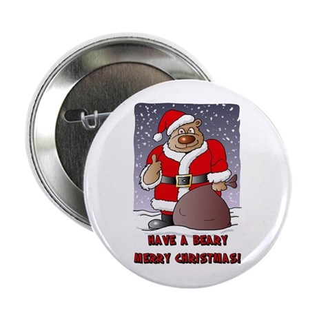 "Beary Merry Christmas 2.25"" Button (10 pack)"