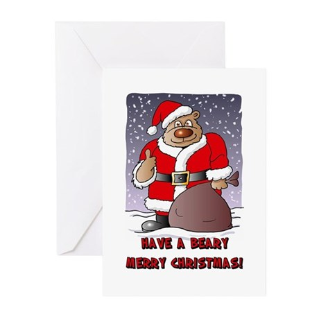 Beary Merry Christmas Greeting Cards (Pk of 10)