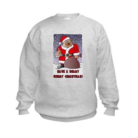 Beary Merry Christmas Kids Sweatshirt