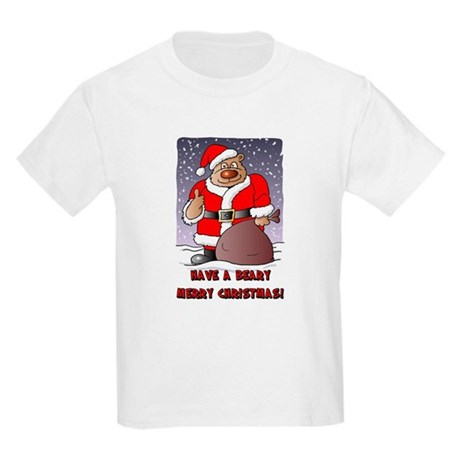 Beary Merry Christmas Kids Light T-Shirt