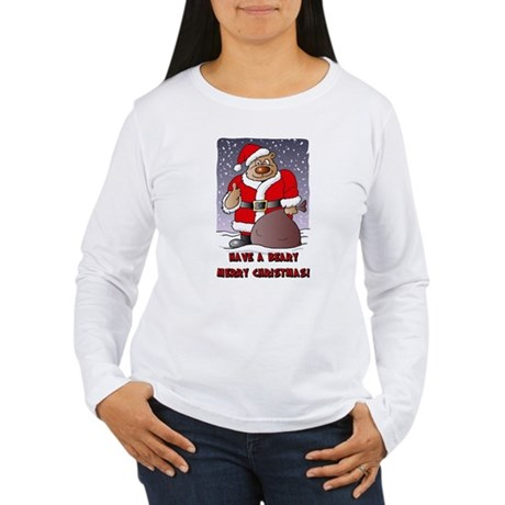 Beary Merry Christmas Women's Long Sleeve T-Shirt