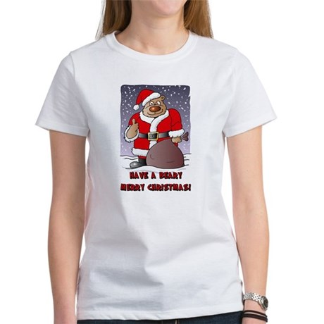 Beary Merry Christmas Women's T-Shirt