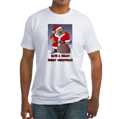 Beary Merry Christmas Fitted T-Shirt
