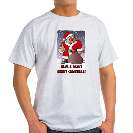 Beary Merry Christmas Light T-Shirt
