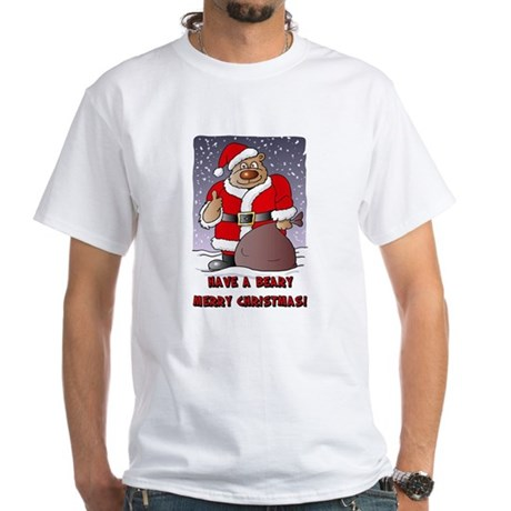 Beary Merry Christmas White T-Shirt