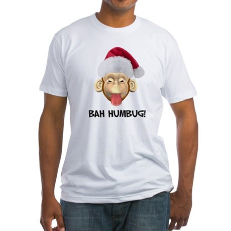 Bah Humbug Fitted T-Shirt