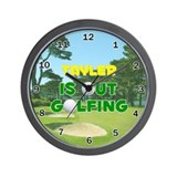 Tayler is Out Golfing - Wall Clock