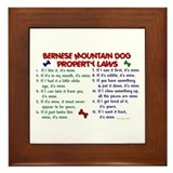 Bernese Mountain Dog Property Laws 2 Framed Tile