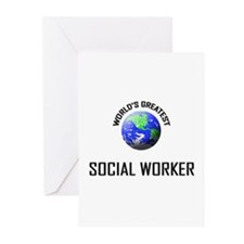 World's Greatest SOCIAL WORKER Greeting Cards (Pk