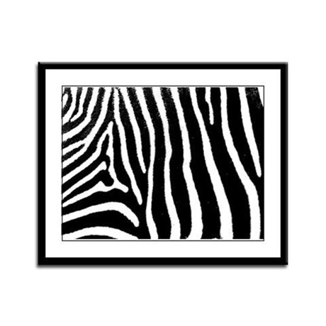 Helaine's Zebra Pattern Framed Panel Print