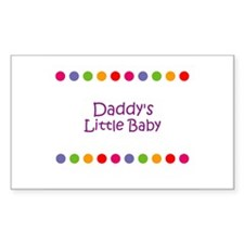 Daddy's Little Baby Rectangle Decal