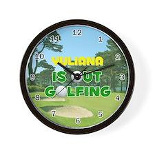Yuliana is Out Golfing - Wall Clock