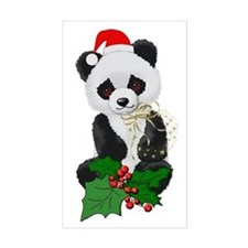 Christmas Panda Rectangle Decal
