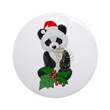 Christmas Panda Ornament (Round)