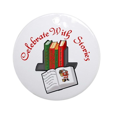 Celebrate w Stories Ornament (Round)
