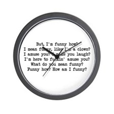 Funny How 2 Wall Clock
