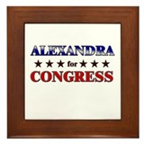 ALEXANDRA for congress Framed Tile