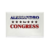 ALESSANDRO for congress Rectangle Magnet (10 pack)
