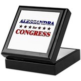 ALESSANDRA for congress Keepsake Box