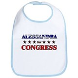 ALESSANDRA for congress Bib