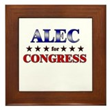 ALEC for congress Framed Tile