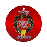Alanna's Christmas (Angela) Ornament (Round)