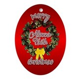 Alanna's Christmas (Angela) Oval Ornament