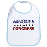 AINSLEY for congress Bib