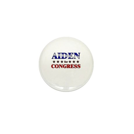 AIDEN for congress Mini Button