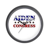 AIDEN for congress Wall Clock