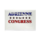ADRIENNE for congress Rectangle Magnet
