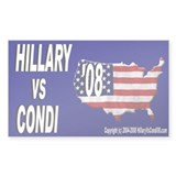 Hillary VS Condi 08 Decal