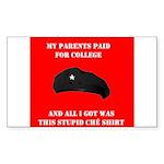 Stupid Che Shirt Rectangle Sticker