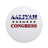 AALIYAH for congress Ornament (Round)